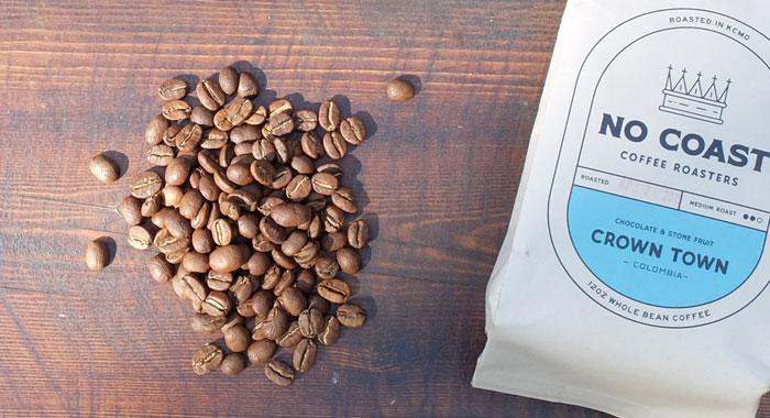 Medium roast Colombian coffee beans
