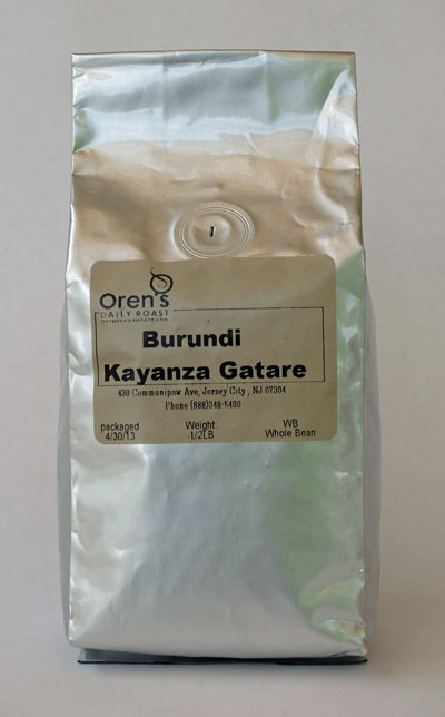 Burundi Kayanza Gatare coffee from Oren's Daily Roast