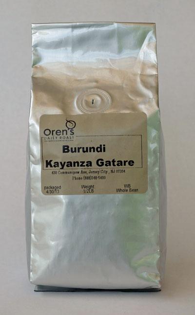 Burundi Kayanza Gatare coffee from Oren's Daily Roast