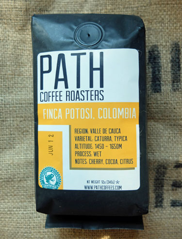 Our review of Colombian Finca Potosi coffee from Path Coffee Roasters