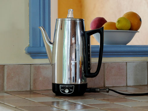 General Electric coffee percolator.