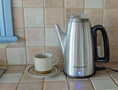 Electric coffee percolators - a  favorite in many kitchens.