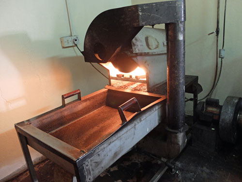 A simple coffee roaster in Kingston Jamaica.