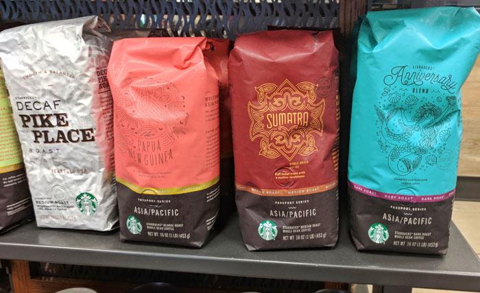 Starbucks coffee bags