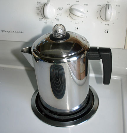 a stove top coffee percolator