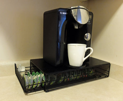 Tassimo coffee brewer storage drawer. & Organize your Keurig K-Cups with a storage drawer