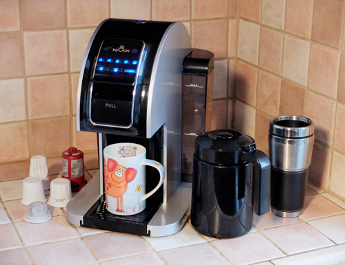 The Touch T526S single-serve brewer