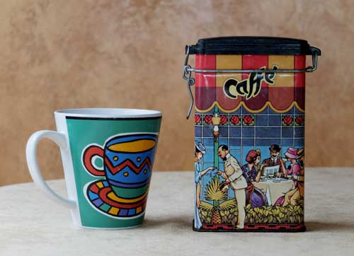 Coffee tin.