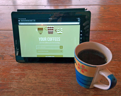 Angels' Cupp coffee app