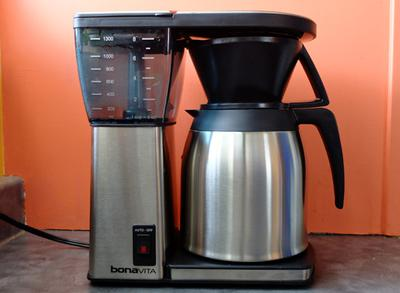 Bonavita BV1800 drip brewer with thermal carafe.