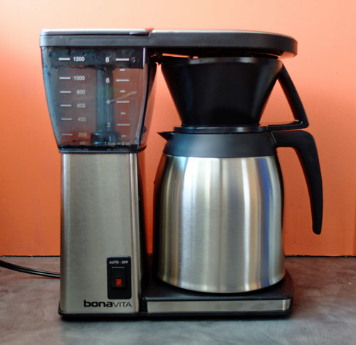 The Bonavita BV1800 Coffee maker with thermal carafe.