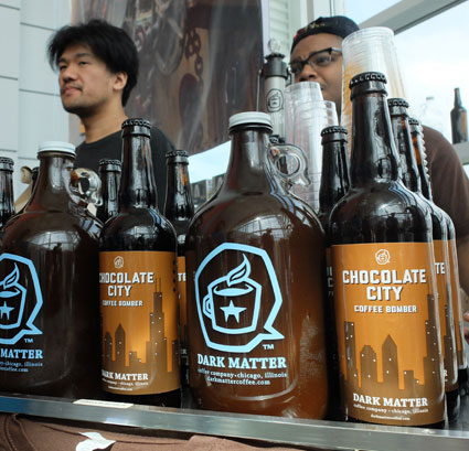 iced coffee in bottles