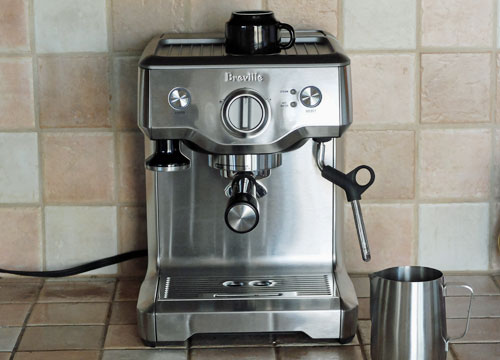 The Breville Duo-Temp Pro espresso machine