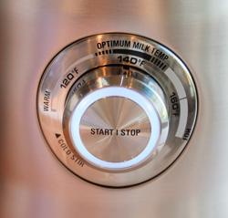 Breville Milk Cafe control dial.