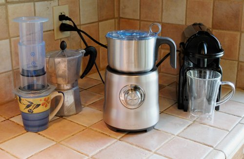 The Breville Milk Cafe milk frother.