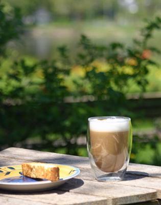 Cappuccino in the garden. Bliss!
