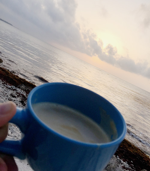 Coffee at sunrise.