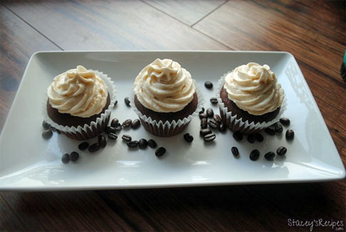 Coffee cupcakes recipe.