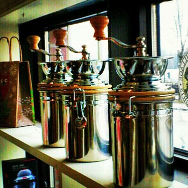 coffee mill tins