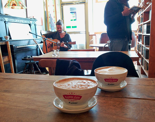 Live music at one of our favorite coffee shops.