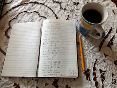 writing poems about coffee