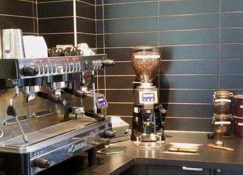 Coffee shop coffee grinder.