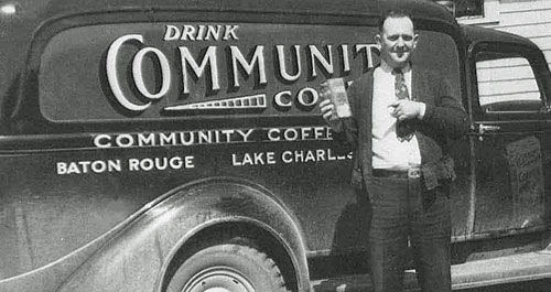 Community coffee delivery van