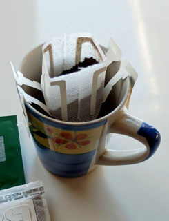 Single-serve drip coffee.
