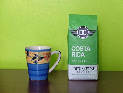 Medium roast Costa Rica from Driven Coffee.