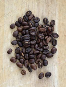 Ethiopia Sidamo coffee beans.