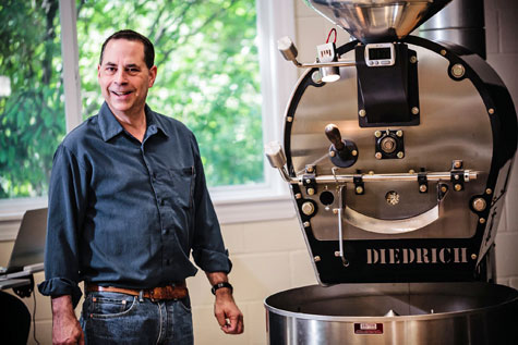 Ed Freedman with his roaster.