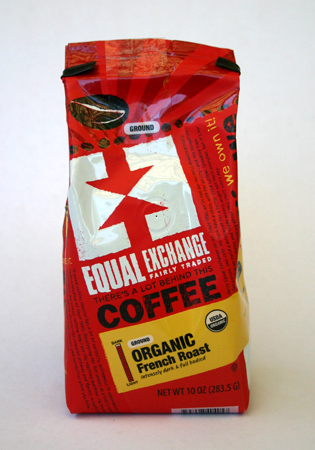 Organic French Roast coffee from Equal Exchange