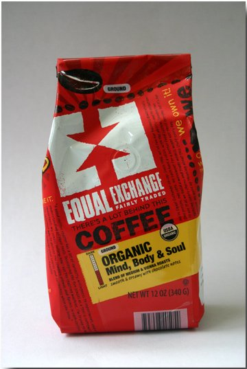 Equal Exchange organic coffee.