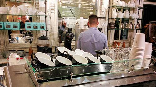 Good coffee at a fancy coffee shop