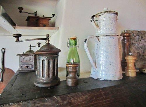 Antique coffee grinders.