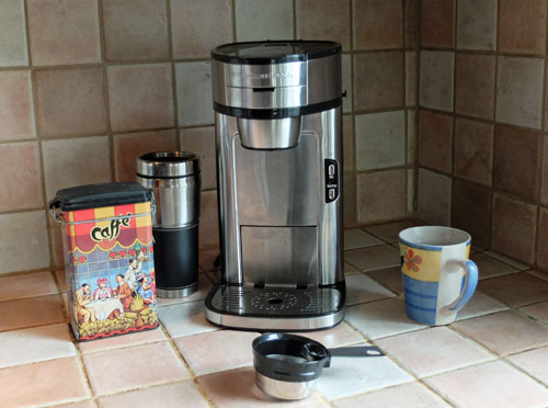 The Hamilton Beach Single Serve Scoop Coffee Maker