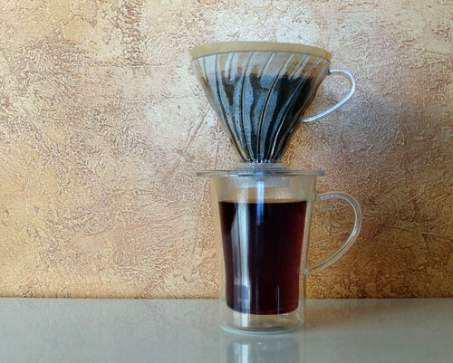 Pour over filter cone.