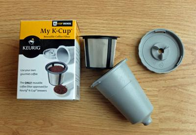My K-Cup reusable coffee filter for Keurig brewers.