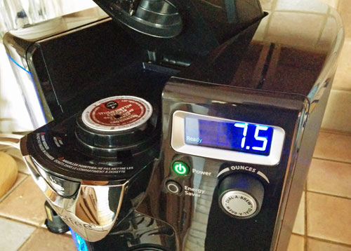icoffee K-Cup brewer display