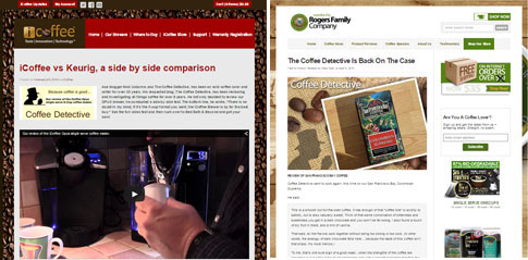 Successful Coffee Detective reviews.