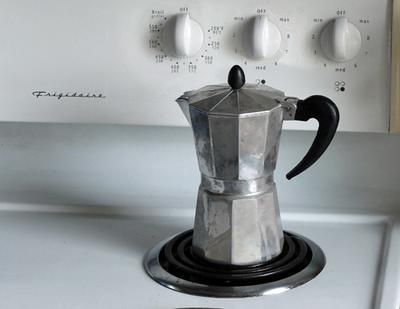 Aluminum Moka coffee maker.
