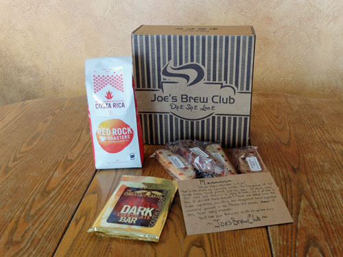 Monthly delivery from Joe's Brew Club