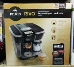 Keurig RIVO brewer in box.