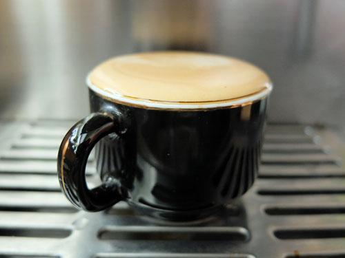 Head of crema on espresso