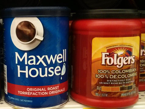 Lots of people are writing in and saying that Maxwell House and Folgers coffee are making them feel sick. Not good!