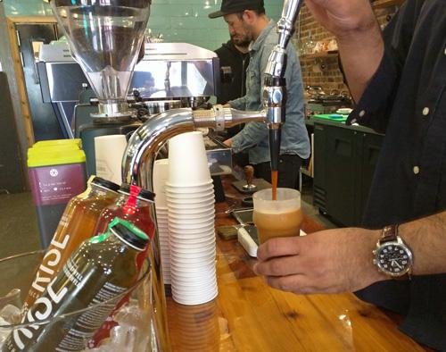 A glass of nitro coffee.