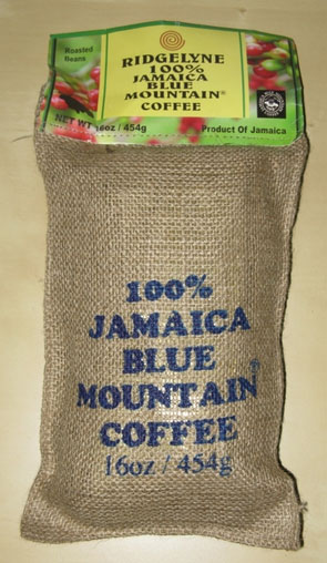 bag of jamaican blue mountain coffee