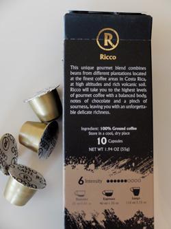 Ricco espresso pack from Rosso Caffe.