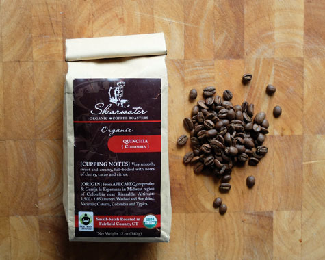 Shearwater Colombia Quinchia organic coffee.