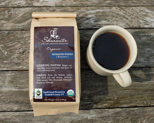 Shearwater Homacho Waeno organic coffee.
